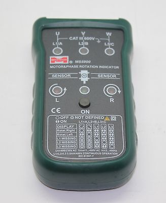 Mastech Ms5900 Motor Phase Rotation Indicator Fluke F9040 F9062 Rotary Field Ind