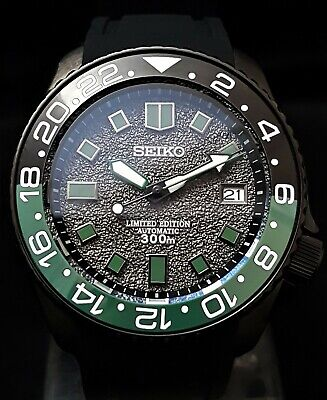 SKX007 Divers Watch Seiko SII Automatic NH36 Movement EXHIBITION BACK PVD CASE