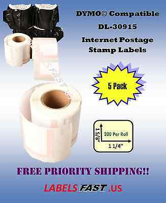 5 Rolls Dymo Usps Address Labels Compatible Postage Stamp Labels 30915 Bpa Free