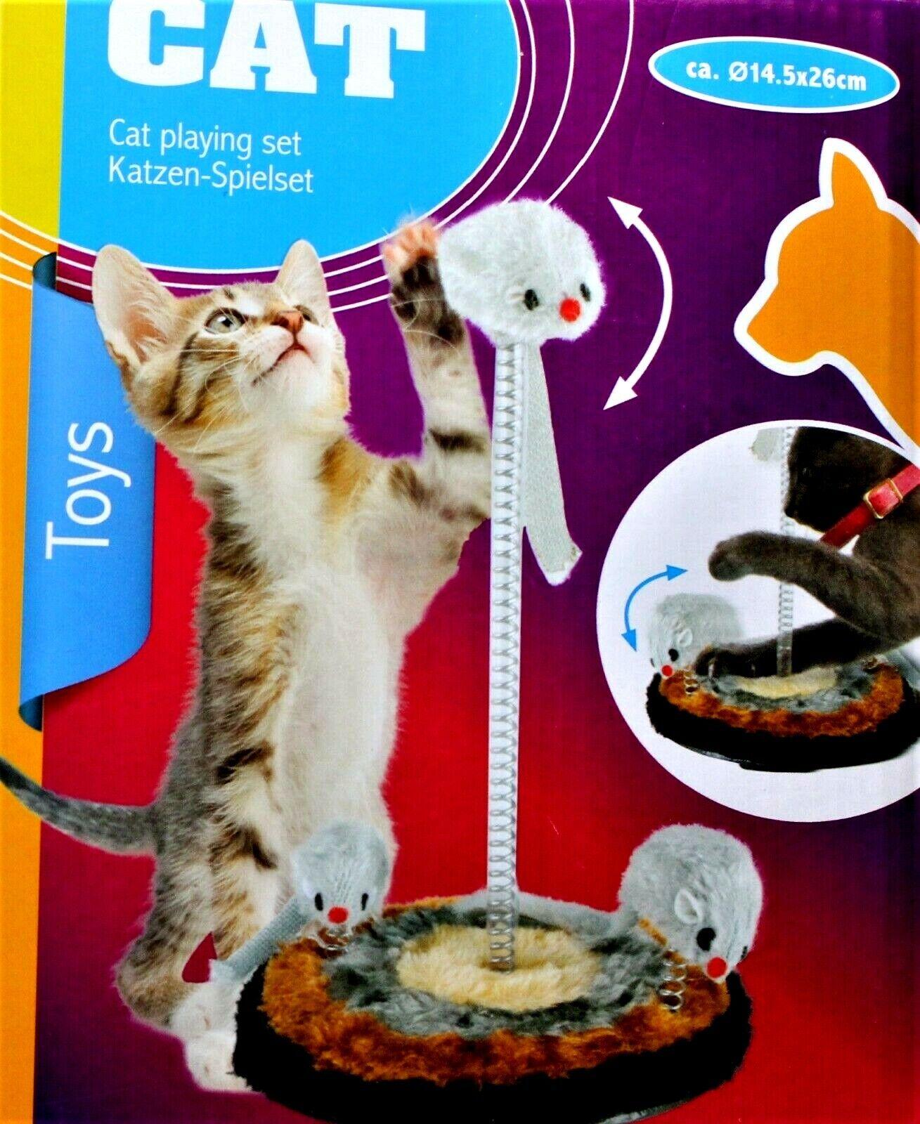 Katzenspielzeug Katzen Spielset mit Maus Katzen Spiel Set Spielzeug für Katzen