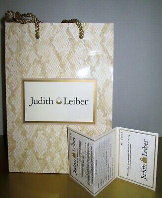 Judith Leiber Designer Vtg Paper Shopper Product Registry Card w/ Alligator Logo