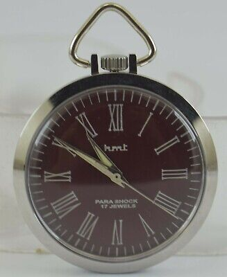 Vintage HMT 17Jewels Winding Pocket Watch For Unisex Use Working Good D-244-6