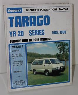 Tarago Yr 20 Series******1988 Service & Repair Manual Gregory's Dee Why Manly Area Preview