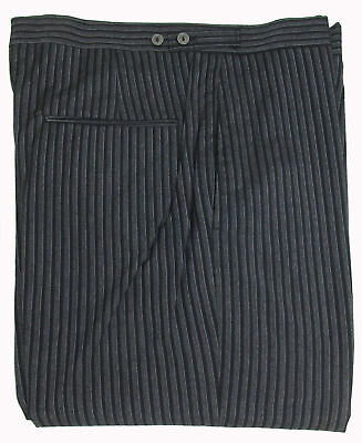 Hickory Stripe Victorian Formal Pants Cutaway Trousers Damaged Halloween Costume