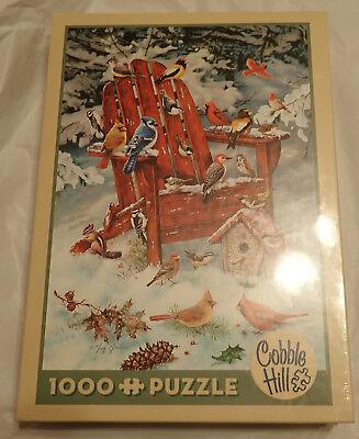 "Cobble Hill Puzzle - Adirondack Birds - 1000 Pieces - 26"" x 19"" - NIB"