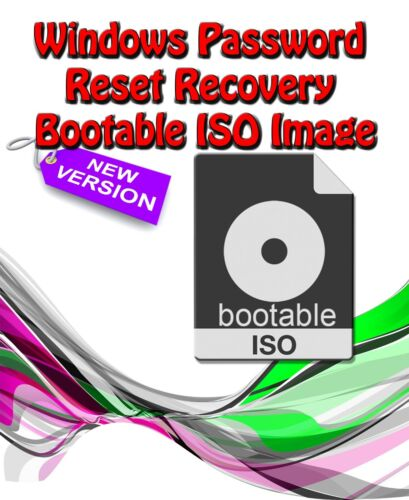Windows 7 8 & 10 Password Recovery Reset Remover Recover Download Link Only ISO