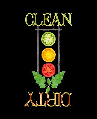 METAL DISHWASHER MAGNET Image Of Tomato Stoplight Clean Dirty Dishes MAGNET