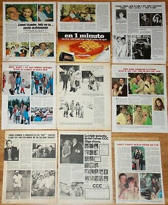 HART TO HART TV SERIES clippings 1980s Lionel Stander Robert Wagner photos