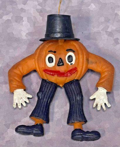 VTG 1973 Ben Cooper Halloween Pumpkin Jack O Lantern Rubber Jiggler Wiggler Toy