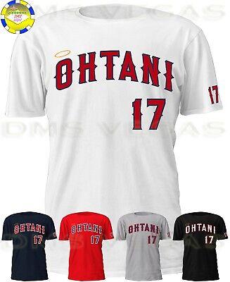 Los Angeles Angels Shohei Ohtani 17 Jersey Tee T Shirt Men Size S 5Xl