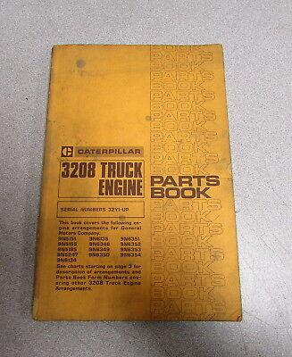 Caterpillar Cat 3208 Truck Engine Parts Catalog Manual 1980 32y1