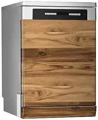 Vinilo Decorativo Lavavajillas - Panel De Madera Roble - 67cm x 76cm