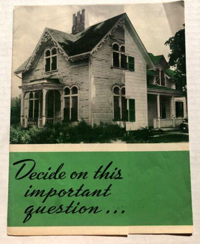 1939 Asbestos Siding Sales Brochure by Philip Carey Mfg Company