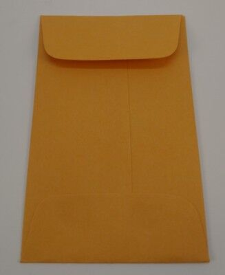 Lot Of 100 No.1 Kraft Manila Coin Envelope 2.25x3.5 Credit Card Seed Gummed Key