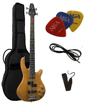 E-Bass, JB10 natur, von Vision-mit Gigbag-Tasche+ Gurt/Band +Piks-Plektren !!