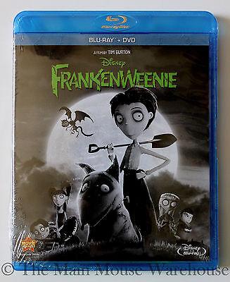 Black & White Stop Motion Frankenweenie Blu-ray & DVD English French and Spanish](Frankenweenie Black And White)