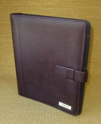 Monarchfolio 1 Rings Burgundy Pebbled Leather Day-timer Plannerbinder