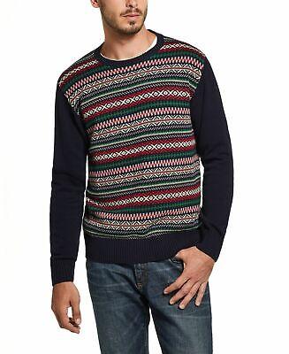 Weatherproof Mens Sweaters Blue Size Small S Crewneck Fair-Isle Knit 75 281 - $0.99