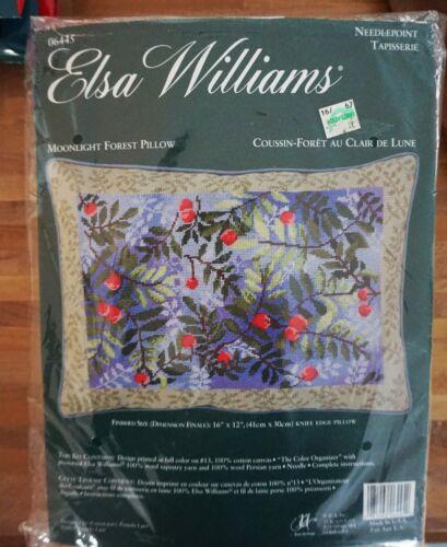 Elsa Williams Needlepoint Kit Moonlight Forest Pillow NEW JCA 06445