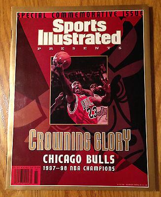 Michael Jordan SI Sports Illustrated 6/17/98 Crowning Glory Bulls NBA Champions