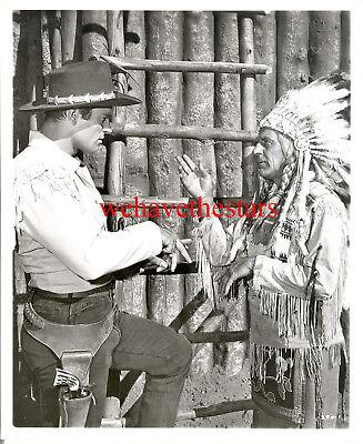 Vintage Clint Walker HANDSOME COWBOY 50s CHEYENNE TV Publicity Portrait