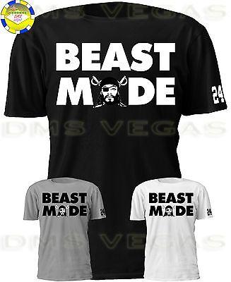 Oakland Raiders Beast Mode Marshawn Lynch Face 24 Jersey Tee T Shirt Men S 5Xl