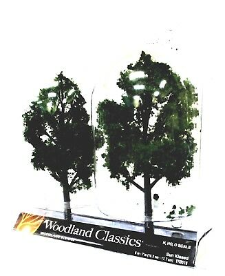 2 Pkg Ready Made - Woodland Classics Ready-Made Trees TR3516 Sun Kissed - 2/pkg