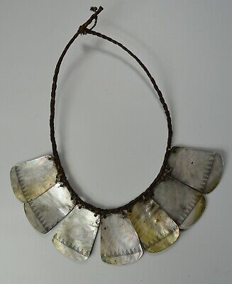 Nice large Vintage ifugao Tribal mother of pearl necklace Philippines