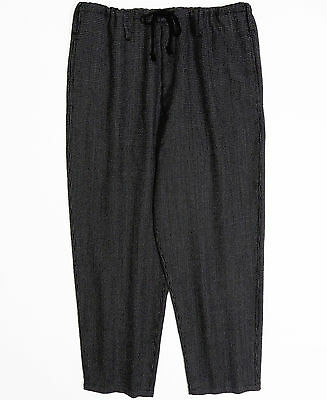 Rare Yohji Yamamoto Pour Homme AW2014 Gray Wide Pants/Trousers Drawstrings Wool