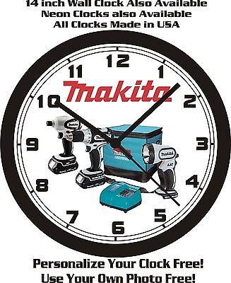 MAKITA POWER TOOLS WALL CLOCK-FREE USA SHIP!