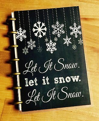 Happy Holidays Chalkboard (Let it Snow Chalkboard Snowflake Holiday Cover Set 4 use with MINI Happy)