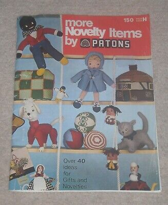 VINTAGE PATONS MORE NOVELTY ITEMS KNITTING CROCHET SEWING PATTERNS BOOKLET
