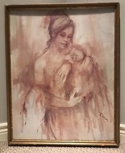Framed Mother and Baby Print