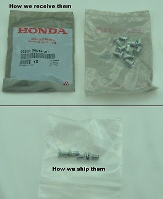 4x Honda Acura Disc Brake Rotor Screw OEM  all models 1980-201 93600-06014-0H All Brake System