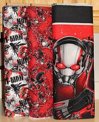 Marvel Ant Man Quilt Panel & Coordinating Fabrics SOLD SEPARATELY PRICE