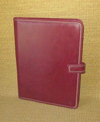 Monarch Franklin Covey Red Sim. Leather Wire Bound Folio Planner Cover