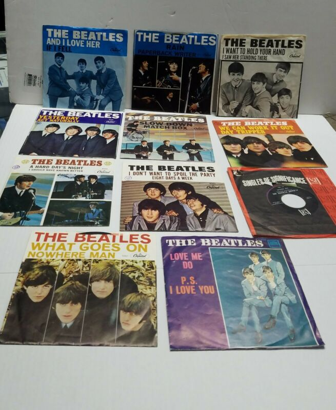 Beatles collection 11 records 45