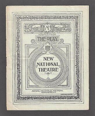 Alice Nielsen Opera * THE SINGING GIRL * Victor Herbert 1900 Washington Program