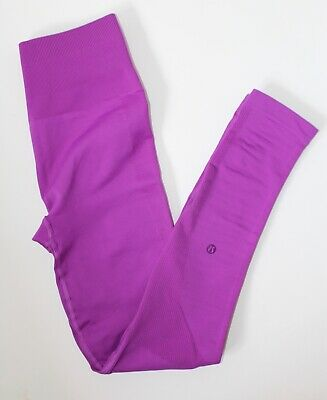 Lululemon Seamless Zone In Tight Compression Leggings sz 6 Violet