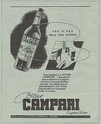J0327 CAMPARI per il bar della casa moderna - Pubblicità del 1936 - Old advert
