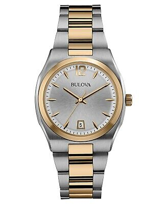 Bulova Women's 98M120 Classic Quartz Silver Dial Two-Tone Bracelet 35mm Watch
