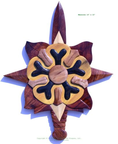 MILITARY INTELLIGENCE EMBLEM -  Handcrafted Wood Art Military Plaque