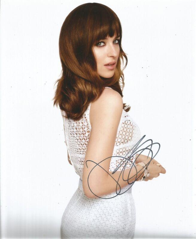 *SALE* Dakota Johnson Signed 10x8 Photo AFTAL