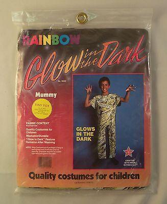 Glow in the Dark Mummy Child Halloween Costume 3 - 4 Years  - Glow In The Dark Baby Halloween Costumes