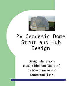 2V Geodesic Dome Wood Strut and Plywood Hub Plans Full Scale Template End Cuts