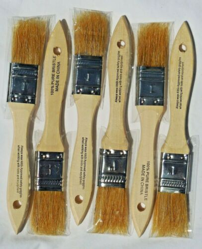 1 INCH CHIP BRUSHES PAINTING APPLYING ADHESIVE CLEANING OR TOUCH UP STAINING
