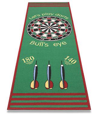Dart-Teppich Dartmatte Bulls Eye Darts Zubehör Abwurflinie Turnier-Matte 80x237