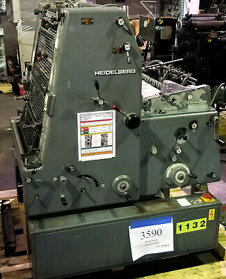 Heidelberg Gto 52 Offset Printing Press With Ductor Dampening - Inventory 3590