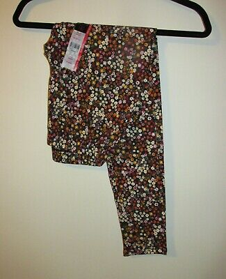 Juniors Full Length Floral Print Leggings (Size Small 3/5) BRAND NEW W TAGS Floral Print Leggings