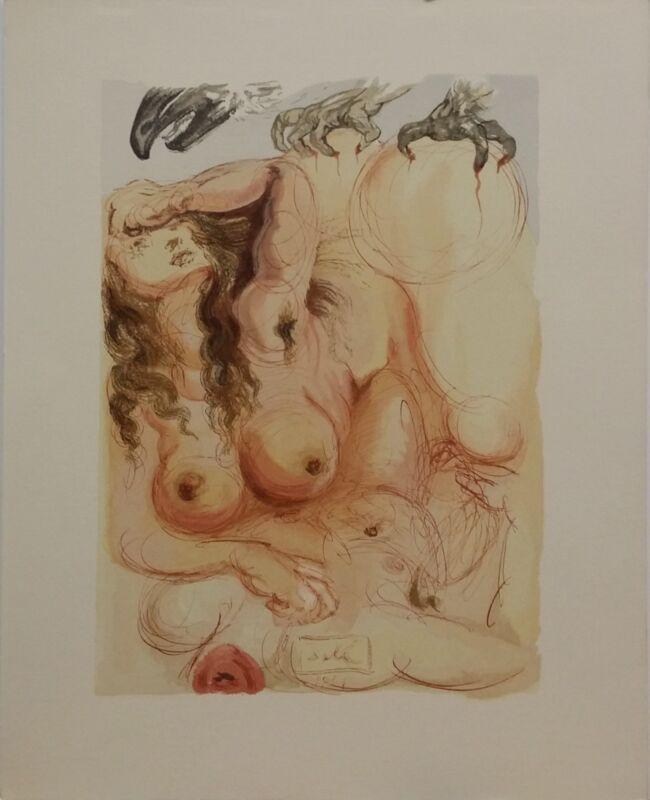 "Salvador Dali ""purgatory Canto 9"" | Rare Woodlock Print | Others Avail | Gallart"